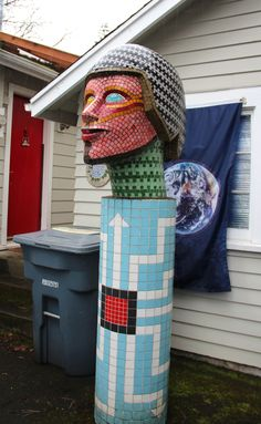 Jack Lewis #sculpture at his private residence in Tacoma, WA                     #mosaic #mosaicart