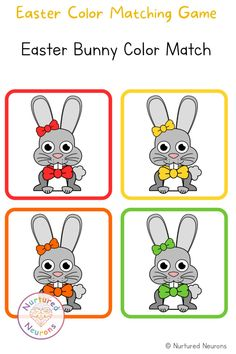 Cute Easter Color Matching Game (Toddler and Preschool Printable) Here's a little printable color matching game for Easter. Can your little ones help the Easter Bunnies find their missing eggs? Great for developing color recognition and embedding the color names. Grab the Easter game over at Nurtured Neurons! #easter #easterprintables #eastergames #preschoolprintables #toddlers #toddlergames #colormatching Easter Games, Fun Activities For Toddlers, Games For Kids, Step Parenting, Parenting Toddlers, Best Toddler Gifts, Easter Colors, Preschool Printables, Matching Games