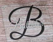 Personalized Monogrammed Glass Cutting Board Kitchen Decor Counter top Chopping Block Board Initial Wedding Christmas Birthday Gift Monogram
