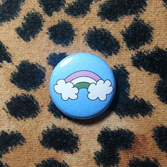 Genderqueer Flag Rainbow Pinback Button or Magnet by jaxxisbuttons