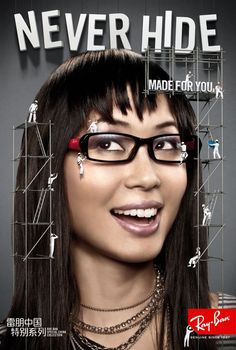 Read more: https://www.luerzersarchive.com/en/magazine/print-detail/ray-ban-46291.html Ray-Ban Made for you. Poster campaign for Ray-Ban made for the Chinese market based on the tailored fit of the glasses specific to the region. Tags: Ray-Ban,Claudia Goetzelmann, San Francisco,Cutwater, San Francisco,Leopold Billard,Christian Navarro