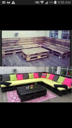 What a great & inexpensive way to make some fun outside furniture