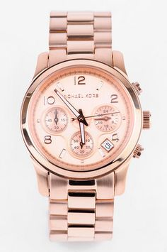 Michael Kors Watches Rose Gold Chronograph Watch in Rosegold $250 at www.tobi.com