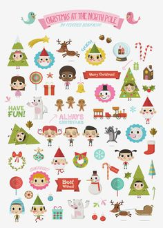 Christmas at the North Pole (Stickers) on Behance