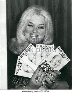 Feb. 02, 1976 - Actress Diana Dors launches her new book ''Adults Only'': Last night at the Westbury hotel actress Diana Dors la -