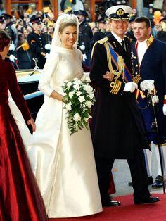 Maxima, Prinzessin der Niederlande, heiratete am 2. Februar 2002 den ältesten Sohn von Königin Beatrix, Willem-Alexander, Kronprinz der Niederlande.
