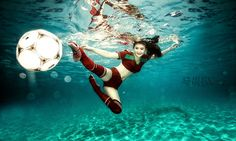#World Cup #football-girl #red #sports #water #photo