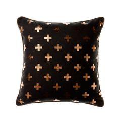Home Republic Copper Aztec Small Cross - Homewares Cushions - Adairs online