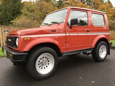 This 1987 Suzuki Samurai (VIN JS4JC51V9H4117063) shows 22k miles and appears to be in excellent condition. Though the seller makes no originality or odometer accuracy claims, the little truck certainly does look as if it could remain largely factory. These hardtop versions are particularly rare, and