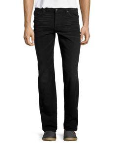 7 For All Mankind Standard Straight-Leg Jeans, Dark West Edge, Men's, Size: 38