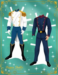 Бумажные куклы русалочки Ариэль и принца Эрика