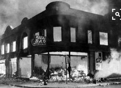 The 12th Street riots in Detroit 1967. It lasted for 5 days. 1,189 wounded, 7,200 arrested (26 were snipers) 43 dead, 300 families left homeless, 2000 building's looted or destroyed. Estimated damage $40- $45 million. The scars are still seen and felt today.