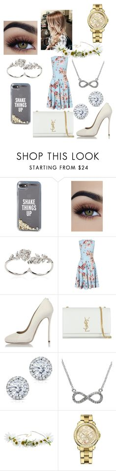 """Party!!🎉🎉"" by ggmuffinz4life on Polyvore featuring Kate Spade, Apples & Figs, Miss Selfridge, Dsquared2, Yves Saint Laurent, Kobelli, Effy Jewelry, Cult Gaia and Juicy Couture"
