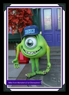 Mike from Monsters U at Disneyland