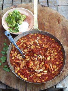 Turkey con chilli - leave the turkey, add vegetarian chicken :-)