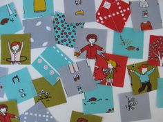 I've ordered 36 packs of charm squares of little apples by Aneela Hoey