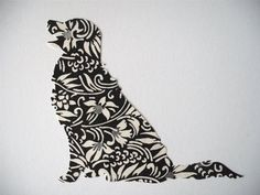 golden retriever silhouette art - Google Search