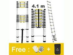Finether 16.4ft Aluminum Telescopic Extension Ladder Best Ladder, Telescope, Purpose, Finger, Fingers