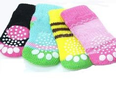 Non-slip knitted dog socks. Sizes: S: L: Always 4 pieces in one package. Dog Socks, Spandex, Pet Accessories, Fashion Boutique, Pet Dogs, Your Pet, Baby Shoes, Coin Purse, Puppies