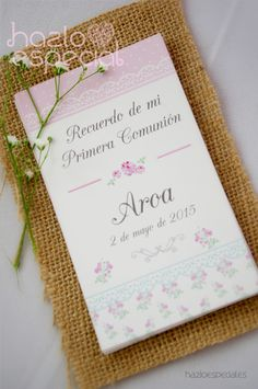 recuerdos_comunion Baptism Cookies, Communion Invitations, Ideas Para Fiestas, First Communion, Shabby Chic, Baby Shower Themes, Party Favors, Scrapbook, Frame