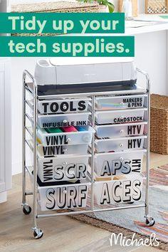 Cricut Craft Room, Home Organization Hacks, Craft Storage, My New Room, Kit, Getting Organized, Room Decor, Diy Projects, Diy Crafts