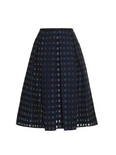 Ina box-pleat fil-coupé skirt | Erdem | MATCHESFASHION.COM US
