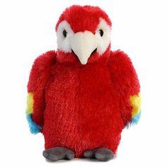 "Aurora Mini Flopsie Scarlet Macaw 8"""