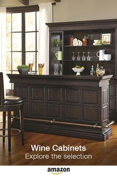 Burton Traditional Bar with Granite Top by Pulaski Furniture at Godby Home Furnishings Home Bar Furniture, Bars For Home, Wine Cabinets, Contemporary House Design, Home, Home Bar Designs, Home Bar Sets, Pulaski Furniture, Furniture
