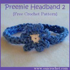 Preemie Headband 2 {Free Crochet Pattern}
