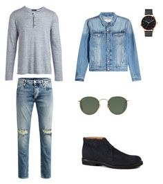"""men outfit"" by alira291003 ❤ liked on Polyvore featuring Vince, AMI, Jos, Tod's, The Horse, Ray-Ban, men's fashion and menswear"