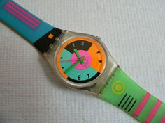 1980's accessory: The swatch watch was popular in the 80's, became a fad and maintained popularity in the following years.
