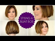 Women's Blunt Cut Bob with Textured Ends and Brunette Balayage Medium Length Hairstyle Short Hair Styles Easy, Short Hair Cuts, Curly Hair Styles, Blunt Bob Cuts, Dominique Sachse, Short Hair Waves, Wavy Bob Hairstyles, Classic Hairstyles, Bob Haircuts