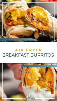 No need to skip breakfast on busy school mornings when you're short on time – Air Fryer Breakfast Burritos can be prepped ahead, then popped in the air fryer for just 10 minutes!