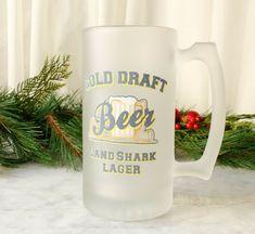 Land Shark Lager Frosted Beer Mug Cold Draft #LandShark