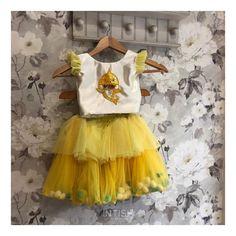 "Intish by Chintya ™️ on Instagram: ""Ruffles. Pom poms. Baby Shark. What's not to love? 💛 . . . Baby shark fans, raise your hands! 🙌🏻 . . . #childrensfashion #affordableluxury…"" Girls Dresses, Flower Girl Dresses, Raise Your Hand, Baby Shark, Pom Poms, Ruffles, Tulle, Fans, Wedding Dresses"