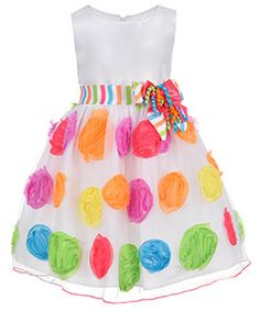 "Bonnie Jean Little Girls' ""Birthday Confetti"" Dress (Sizes 4 – 6X) - CookiesKids.com"