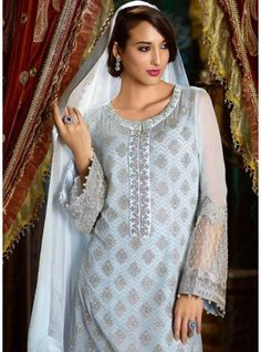 A Stunning Modern Semi-Stitched Designed Straight Cut Suit-WA0182