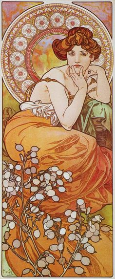 """Alfons Mucha. """"La topaze"""", serie """"Les Pierres Précieusesas"""", 1900."""