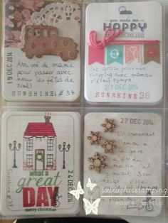 DIY Project Life card december 2014. find more on www.chicstamping.com