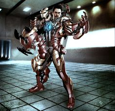 Concept for unused Iron Man armor by Adi Granov