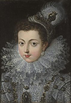Giovanna Garzoni (Italian Baroque Era Painter, Elisabeth of France Princess of France & Queen of Spain, daughter of King Henry IV. of France & Maria de Medici, m King Felipe IV. of Spain. Costume Renaissance, Renaissance Portraits, Renaissance Fashion, Renaissance Clothing, French History, European History, Art History, Historical Costume, Historical Clothing