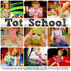 "1+1+1=1 ~ Tot School. go to this page for all links and info on tot school.  *I Love her take on ""tot school"" .. just fun and play is learning. not structured. best collection of ideas and she makes GREAT printables. Tots, preschhol, and pre-k collections."