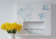 Kominek dekoracja na ścianę