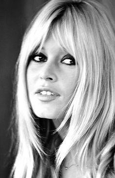 Blonde hair dark eyes, as always beautiful babe Brigitte Bardot