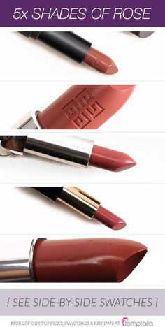 I love dusty and muted rosy lipsticks which can range from light and rosy pink to rosy brown to rosy coral. Here are some of my current favorites for spri - October 06 2019 at Bite Beauty, Just Beauty, My Makeup Collection, Lipstick Collection, Brown Lipstick, Lipstick Shades, Fall Lip Color, Givenchy Beauty, Bold Lips