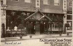 Hazelwood Cream Store Portland, Oregon OR Original Vintage Postcard 1908 at Amazon's Entertainment Collectibles Store Portland Oregon, Louvre, Entertainment, Holidays, Cream, The Originals, Store, Building, Books