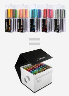Brush Markers, Brush Pen, Liquid Ink, Art And Craft Materials, Stationary School, Stabilo Boss, Cute School Supplies, Henna, Non Toxic Paint