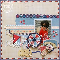 travel layout - like the airmail border