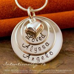 Personalized Jewelry Hand Stamped Mommy by IntentionallyMe
