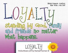 Character Quality: Loyalty - Being loyal to God first and our friends and… Character Traits For Kids, Character Qualities, Teaching Character, Character Counts, Kid Character, Character Education, Kids Education, Norms And Values, Core Values